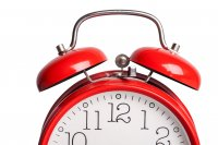 Image of a red alarm clock